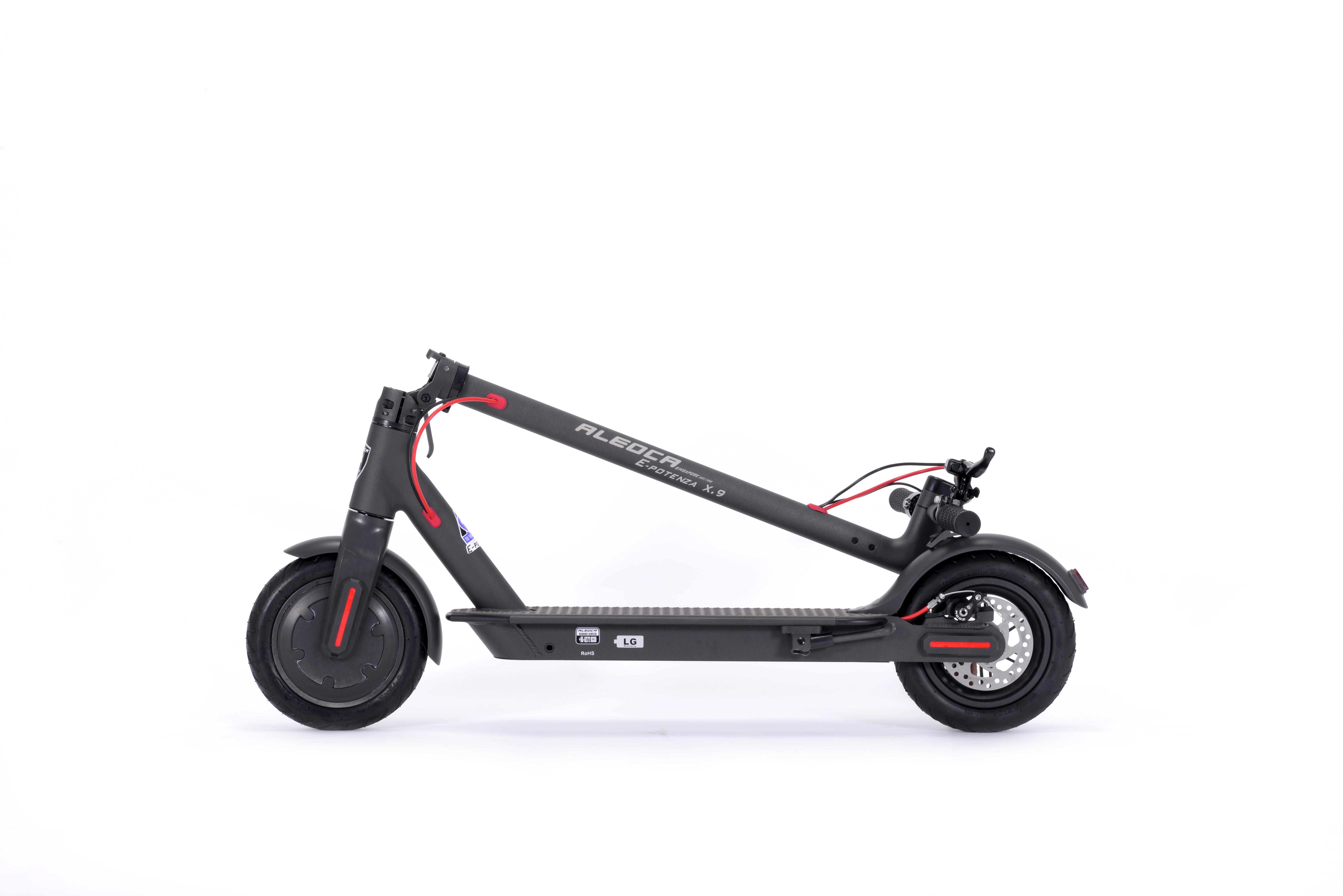 Aleoca E Potenza 8 Electric Scooter X 9 Black Aleoca