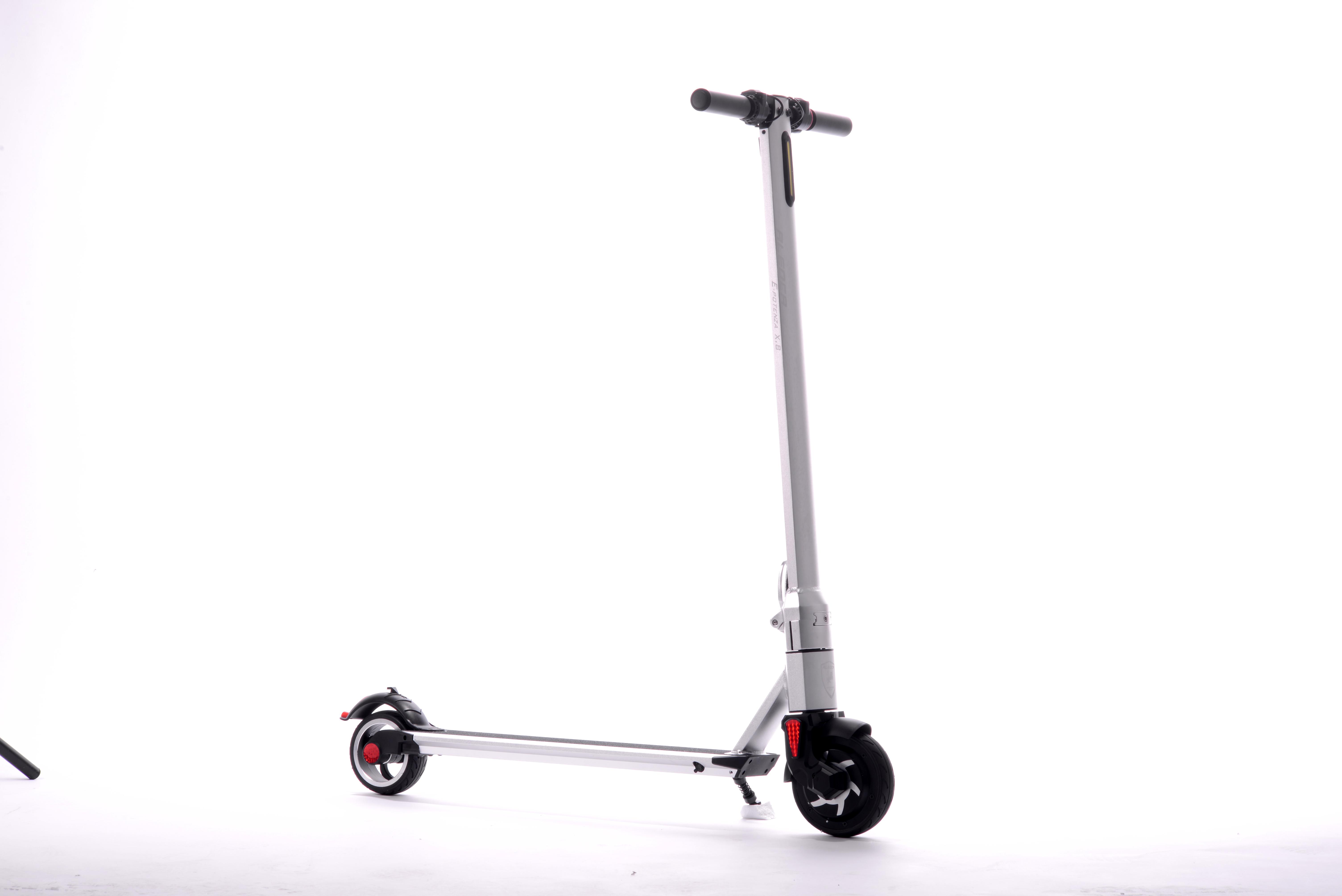 Aleoca E Potenza 6 Alloy Electric Scooter X8 Silver Aleoca